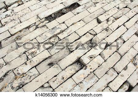 Stock Photography of brick paved ground k14056300.