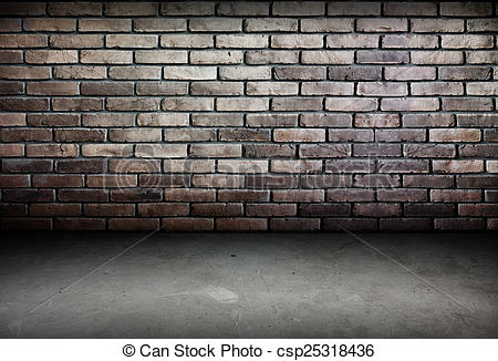 Stock Photos of Room perspective,brick wall and cement ground.