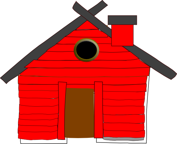Pig and brick house clipart.