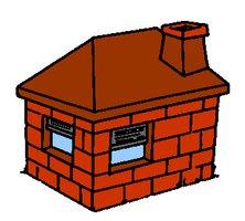 Clipart brick house.