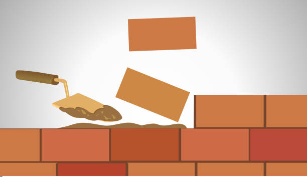Best Laying Brick Illustrations, Royalty.