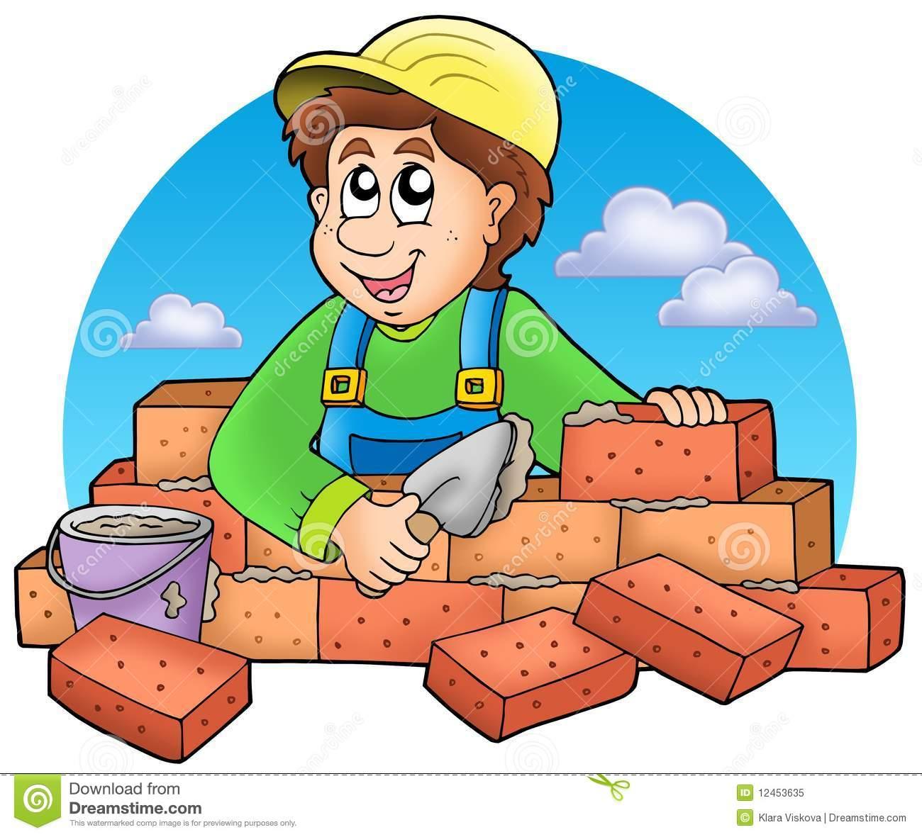 Bricklayer Stock Illustrations.