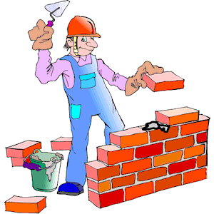 Brick layer clipart - Clipground
