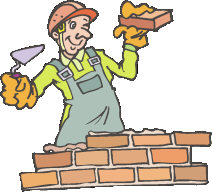 Bricklaying Clipart.
