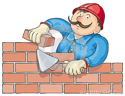 Bricklayer Stock Illustrations.