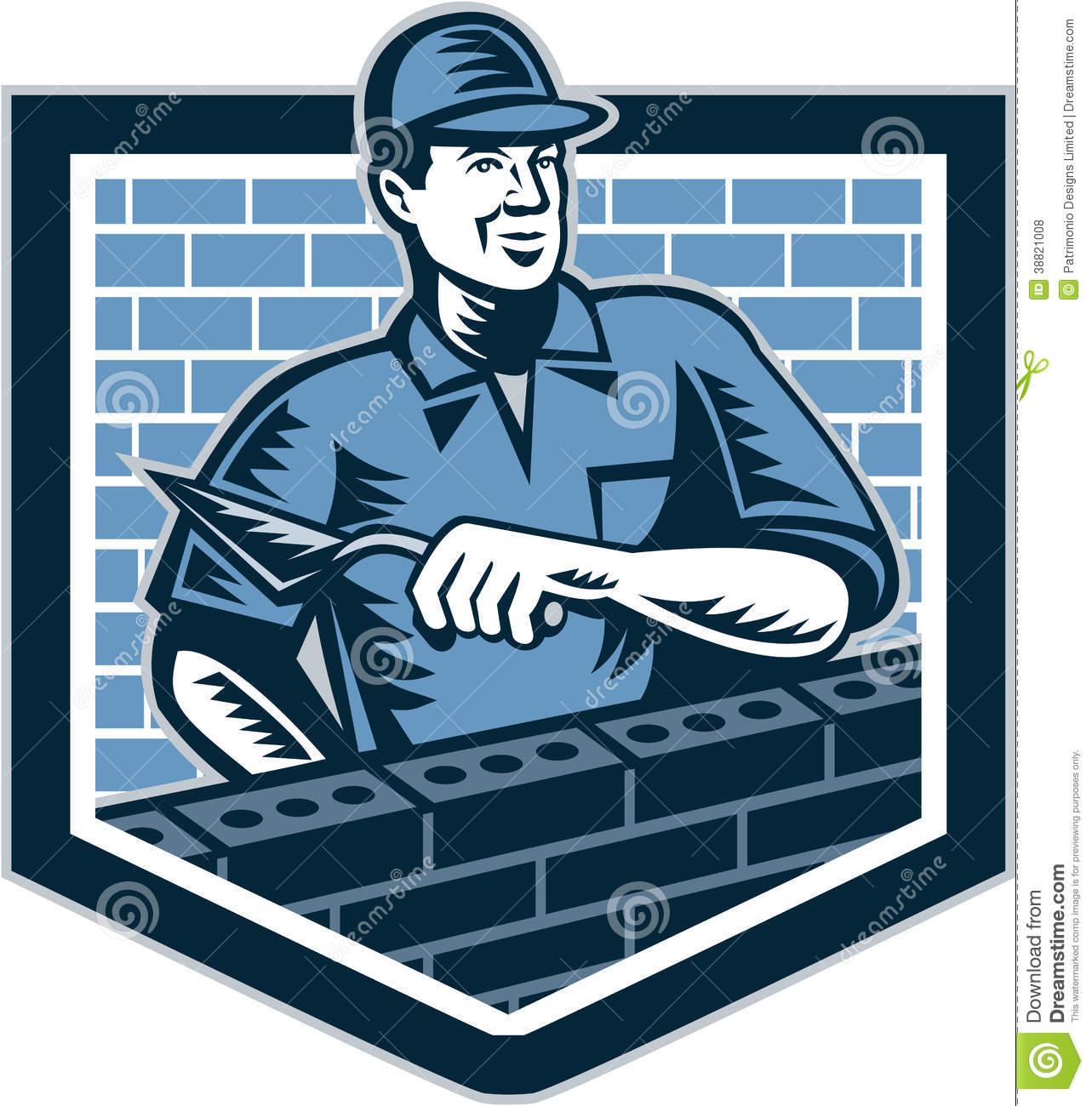 Brick masonry clipart.