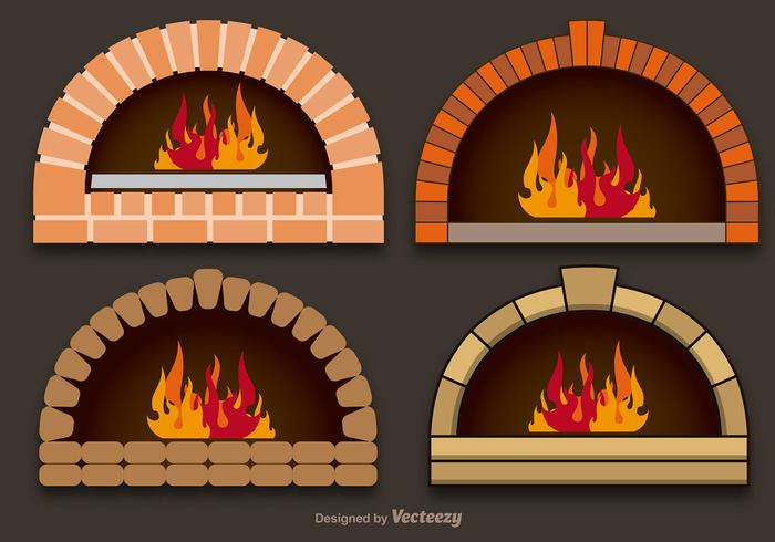 Vector pizza ovens.