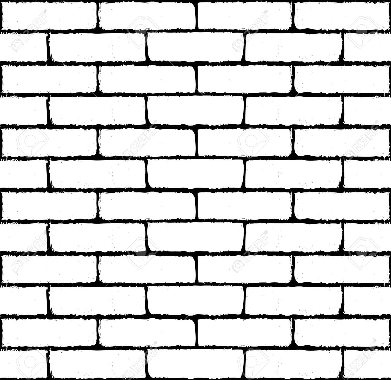 Brick wall clipart silhouette.