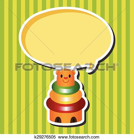 Clipart of baby toy brick tower theme elements k29276505.