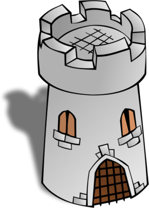 Watch tower clipart.