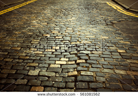 Cobblestone Stock Images, Royalty.
