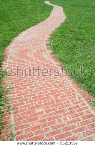 Brick Walkway Stock Images, Royalty.