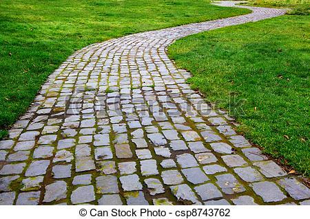 Brick Walkway Clipart.