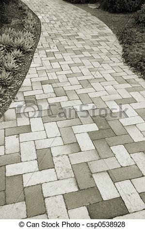 Pictures of Brick Pathway.
