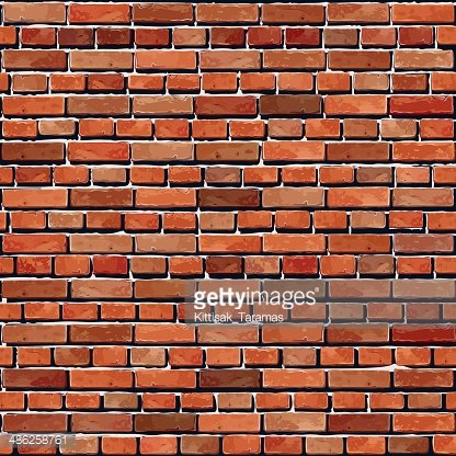 Old Red brick wall seamless background. Clipart Image.