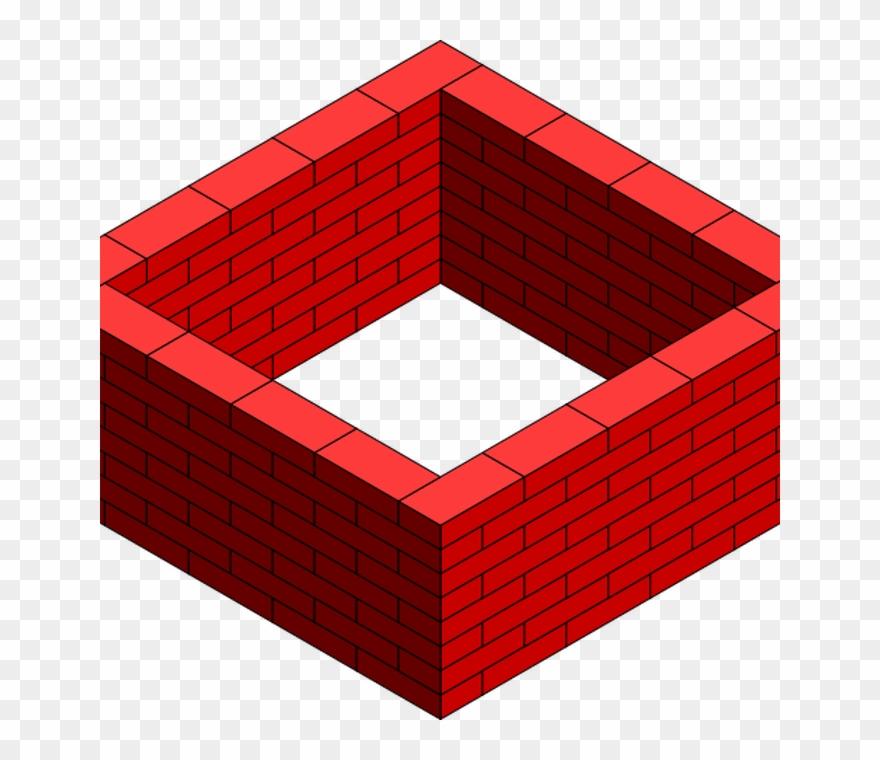 Brick Wall Square Clip Art At Clkercom Vector Clip.