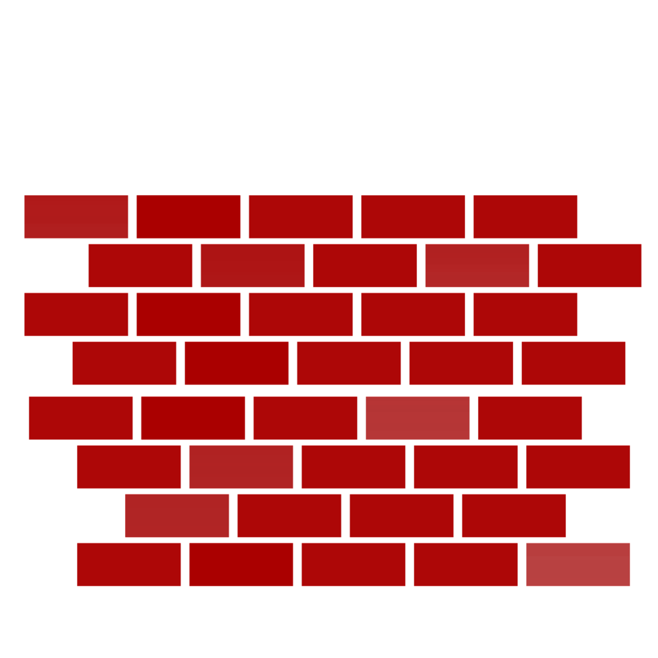 Red brick wall clipart.