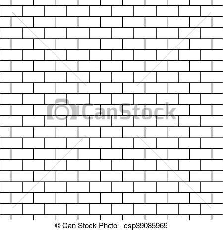 White Brick Wall Seamless Pattern.