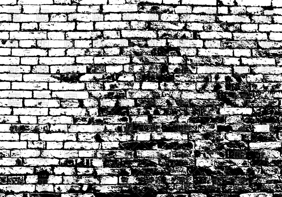 Grunge white and black brick wall Stock Vector Image.
