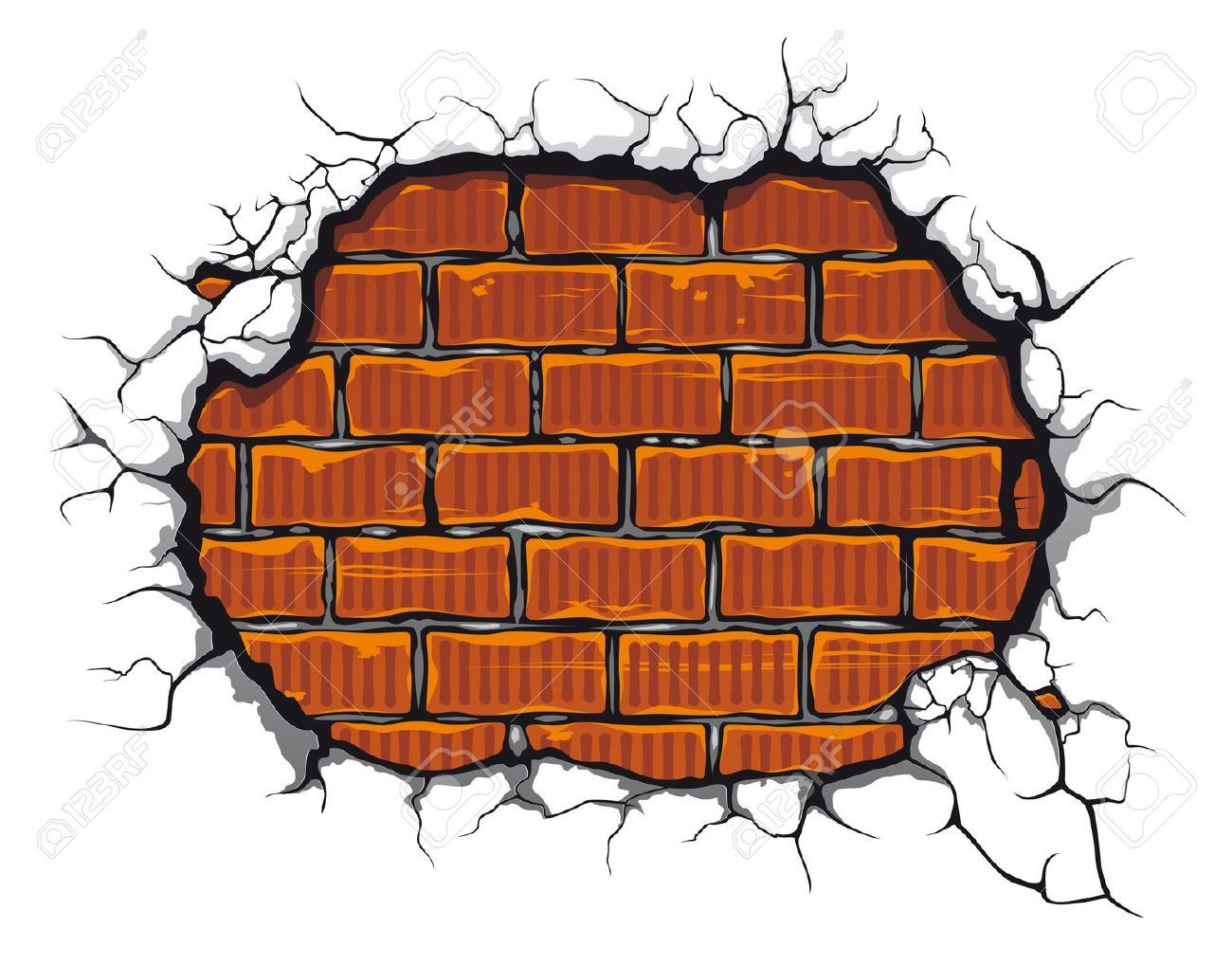 Collection of Brick wall clipart.
