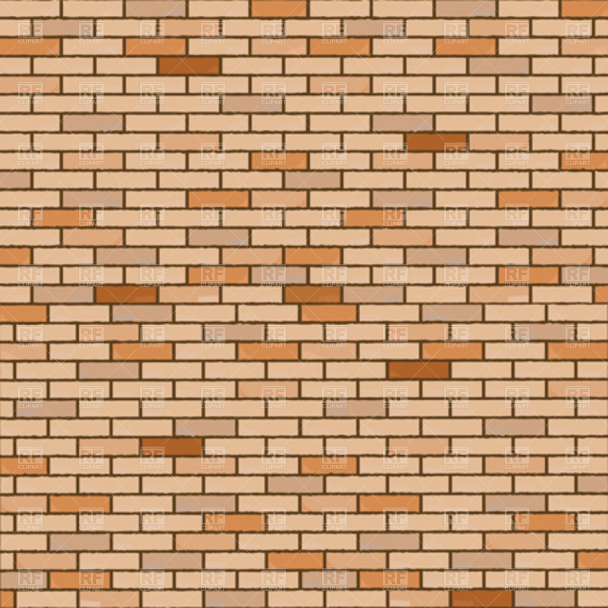 Wall made of bricks Vector Image #4375.