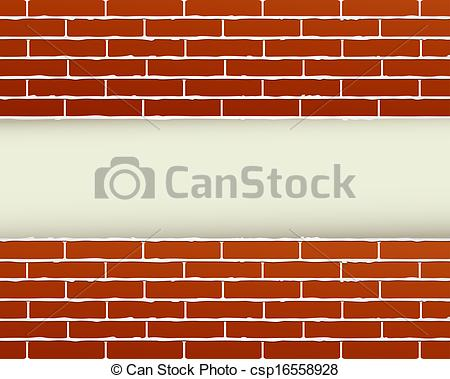 Clip Art of red brick wall and place for text.