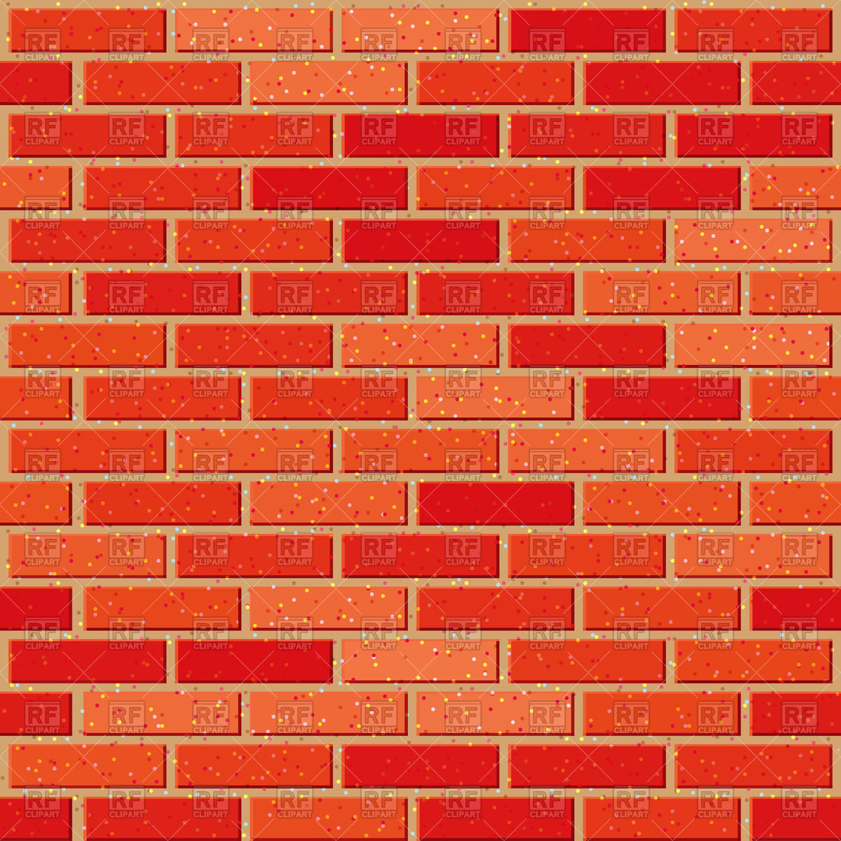 Red brick seamless background Vector Image #74889.