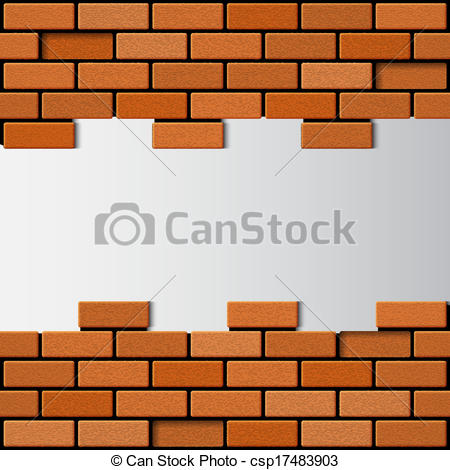Vector Clipart of Brick wall. EPS10 vector csp17483903.