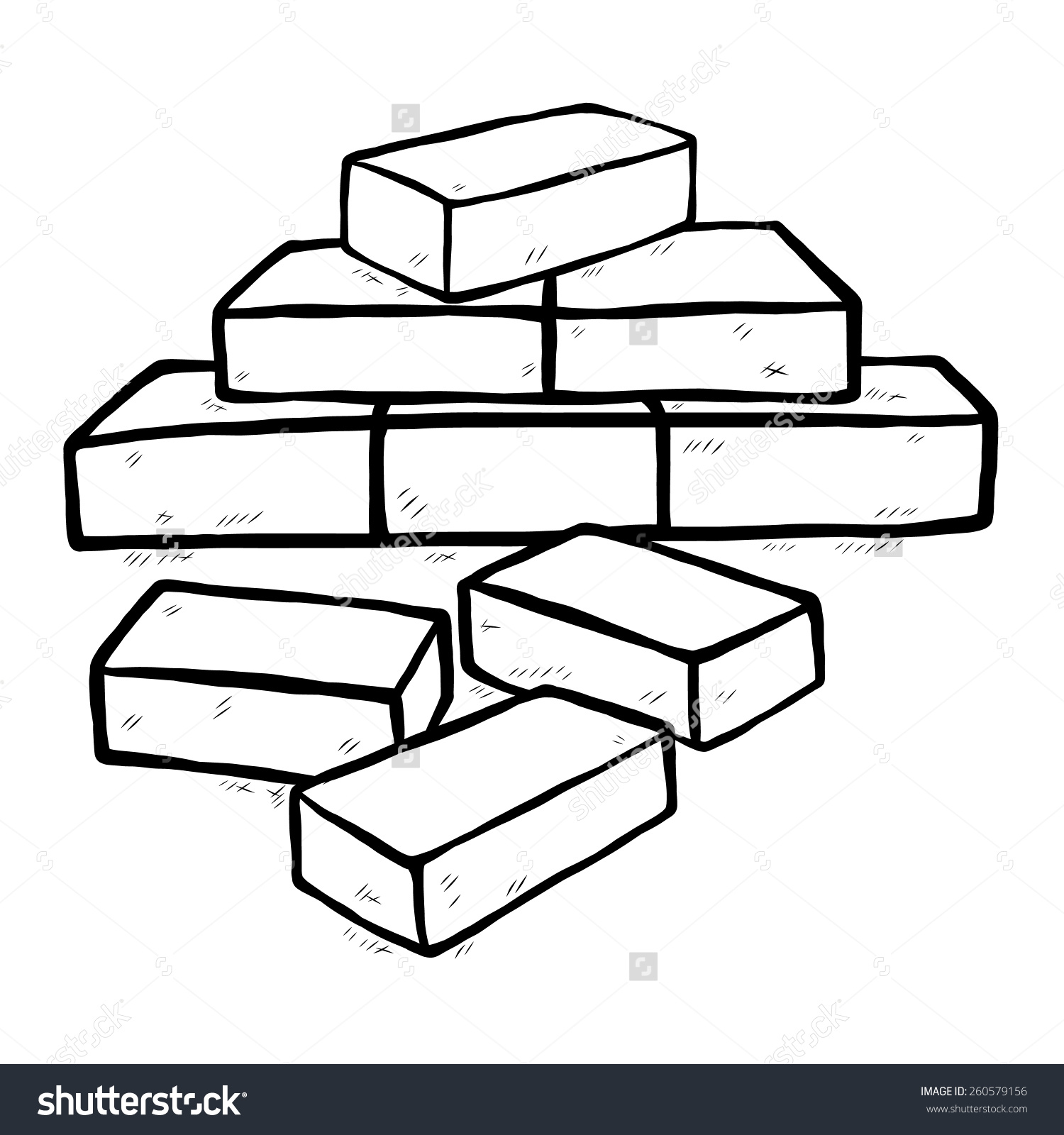 bricks clipart black and white - Clipground