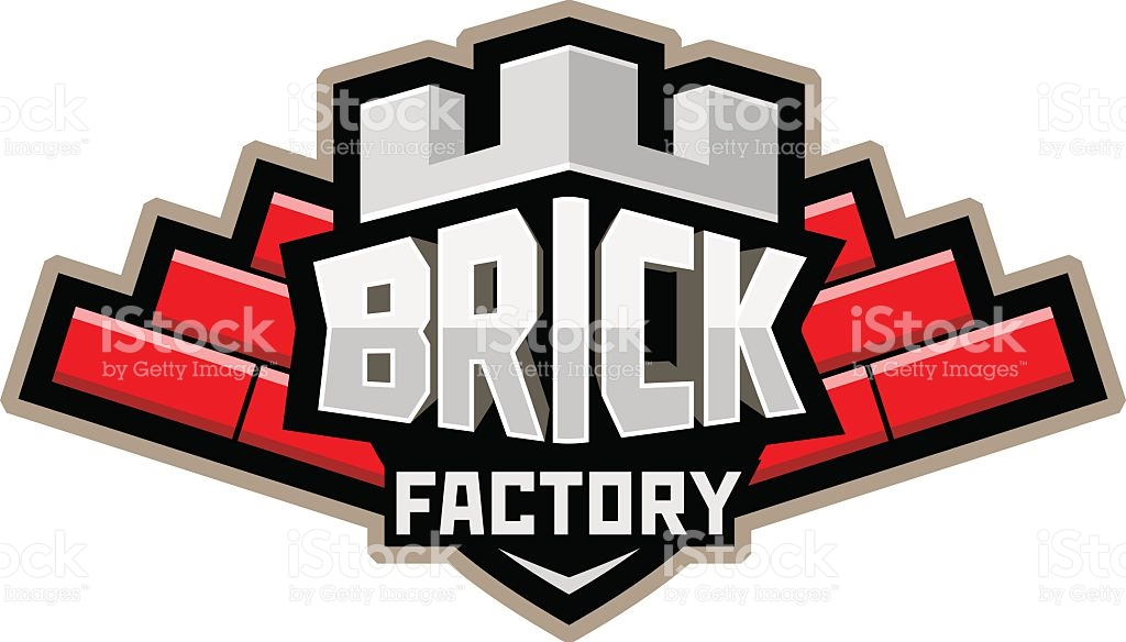 Brickyard Logo Red stock vector art 599889710.