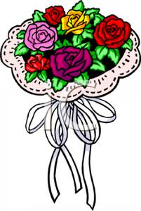 Bridal Bouquet Of Roses.