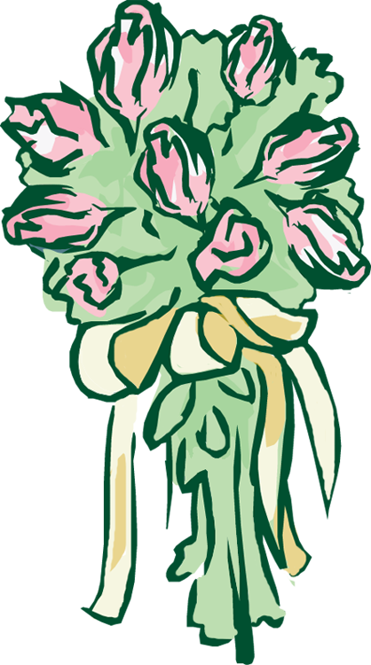 Bridal bouquet clipart - Clipground