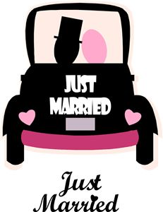 Wedding car clipart.