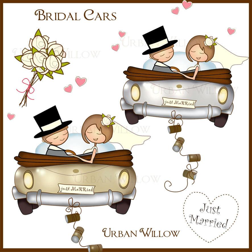 Clipart wedding car.