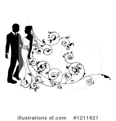 Wedding Couple Clipart #1211621.