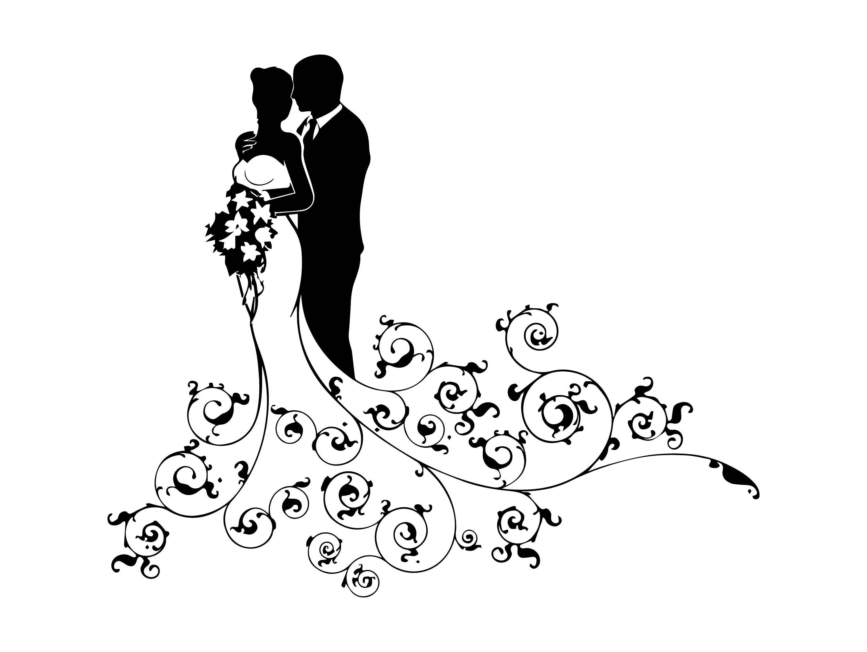 Bridal couple clipart 5 » Clipart Portal.
