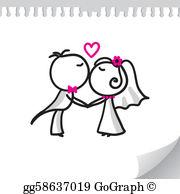Wedding Couple Clip Art.