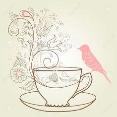 Bridal shower tea clipart.