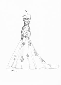 Bridal Gowns Clipart.