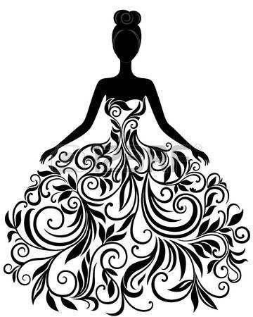 Brides Dress Silhouette Clipart & Free Clip Art Images #23936.