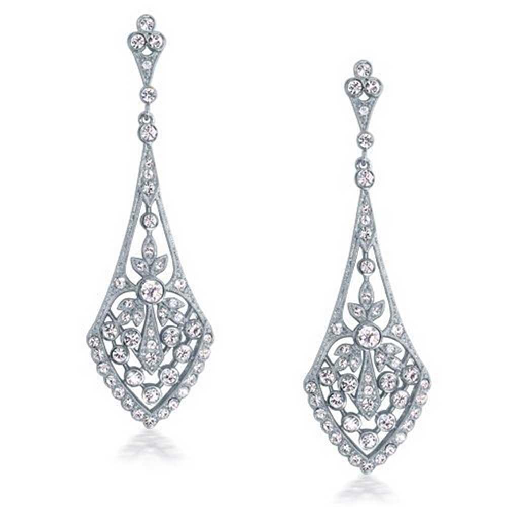 Bridal art deco earrings.