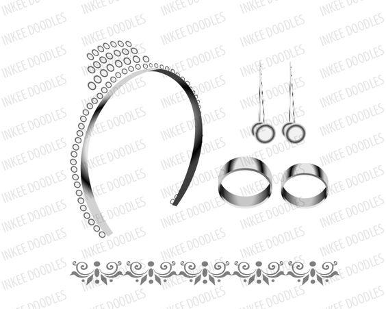 Cute wedding accessories clip art, total of 16 piece designs $6.00.