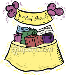 Bridal Shower Gift Clipart.