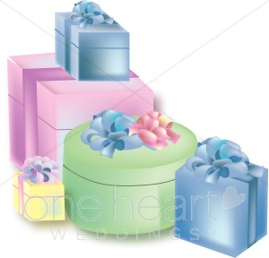 Wedding Gift Clipart, Wedding Presents Graphics, Wedding Gifts.