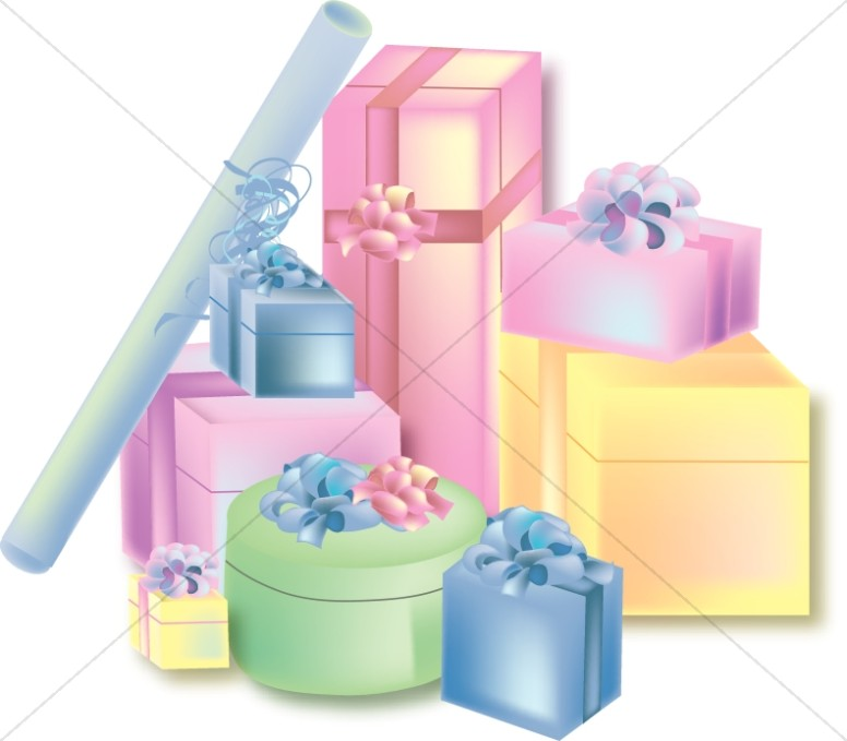Stack Of Presents Clipart.
