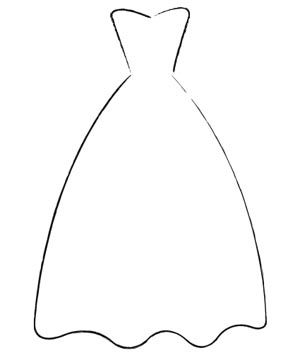 Bride Dress Silhouette Clip Art.