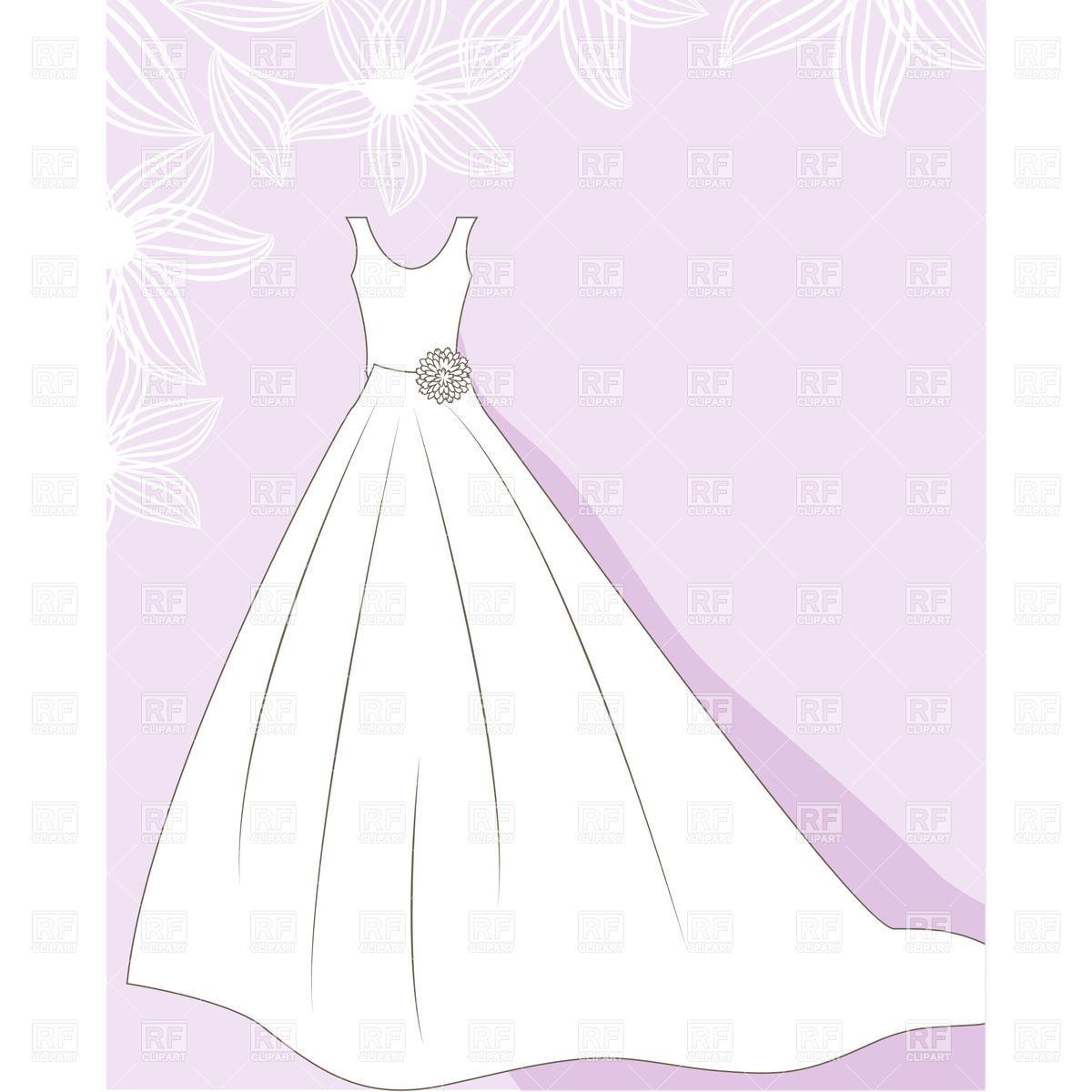 Wedding Dress On Hanger Free Clip Art.
