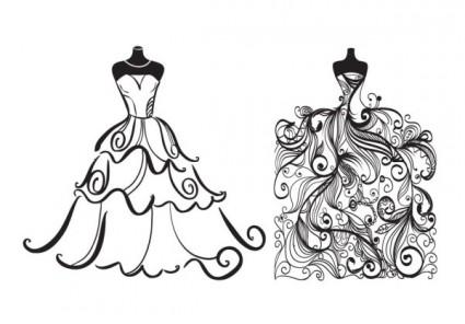 Animated Wedding Dress Clipart.