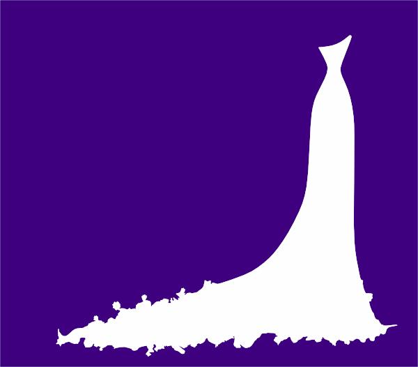 Bridal Dress Invitation On Purple Clip Art at Clker.com.
