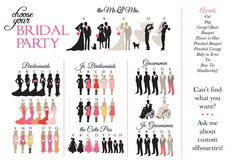 Wedding Party Silhouette Clip Art Program.